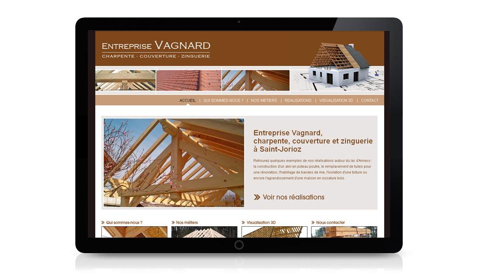 Réalisation site internet entreprise Bonnet Vagnard