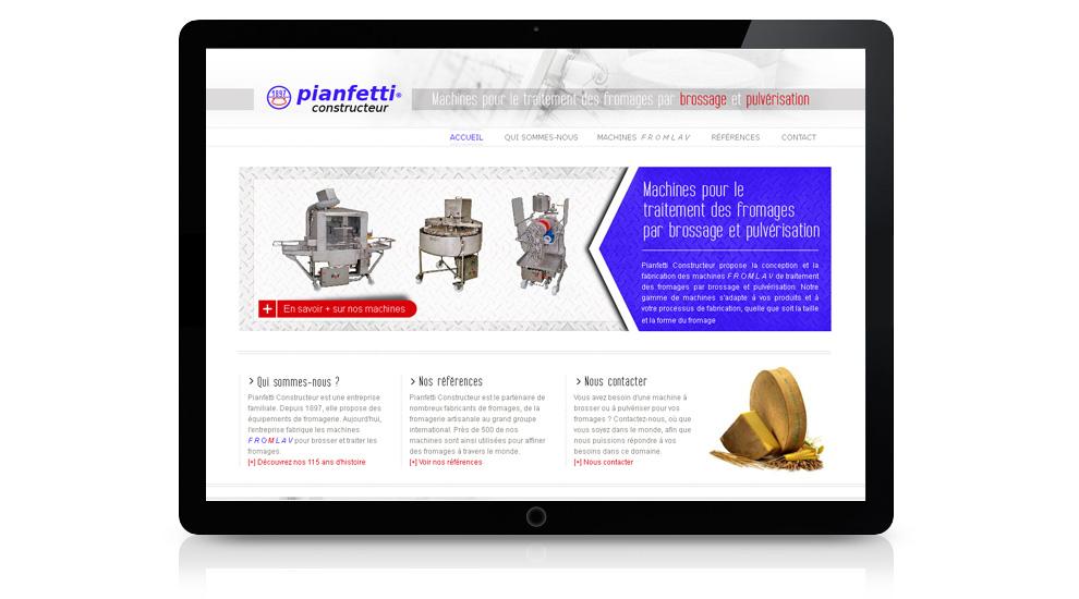 Réalisation site internet Pianfetti Constructeur