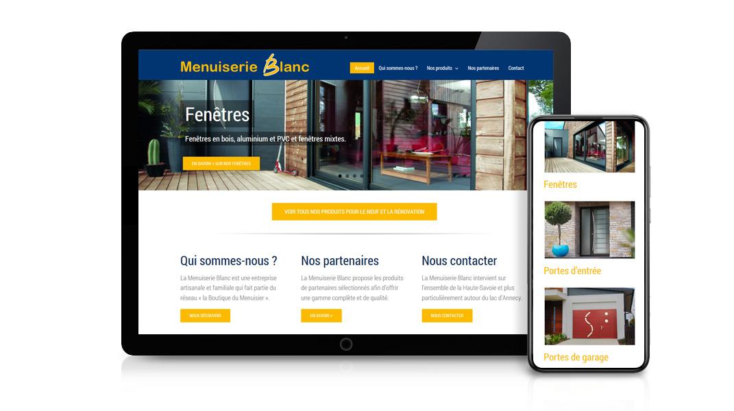 Réalisation site internet Menuiserie Blanc