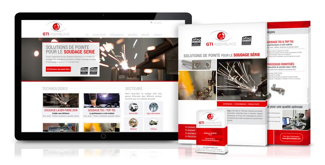 Réalisation logo, carte de visite, brochure de présentation et site internet