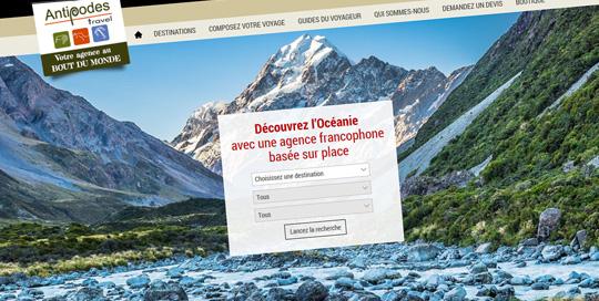 Communication pour agence de voyages