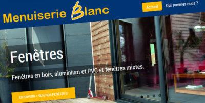 Site internet pour Menuiserie Blanc