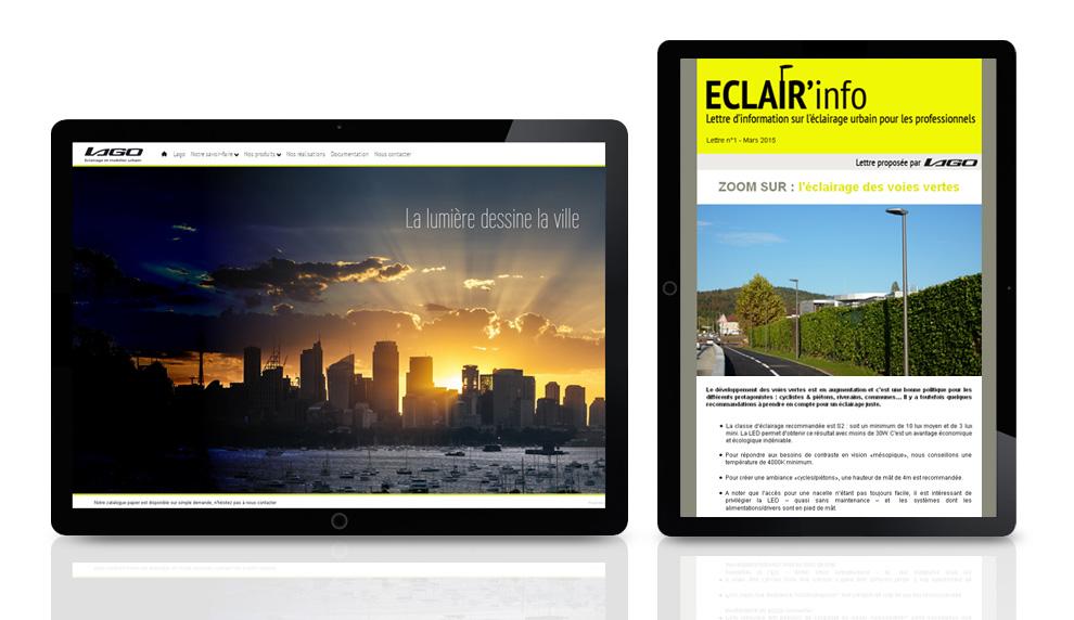 Site internet et newsletter pour Lago