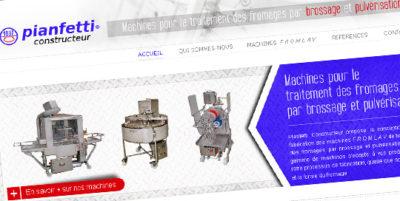 Site internet pour Pianfetti